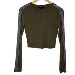 Forever 21 Army Green Crop Top